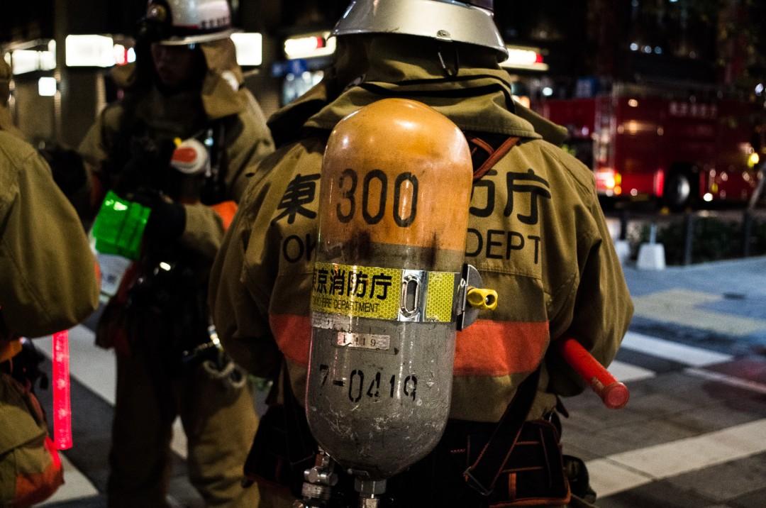 Intervention de pompiers - Tokyo