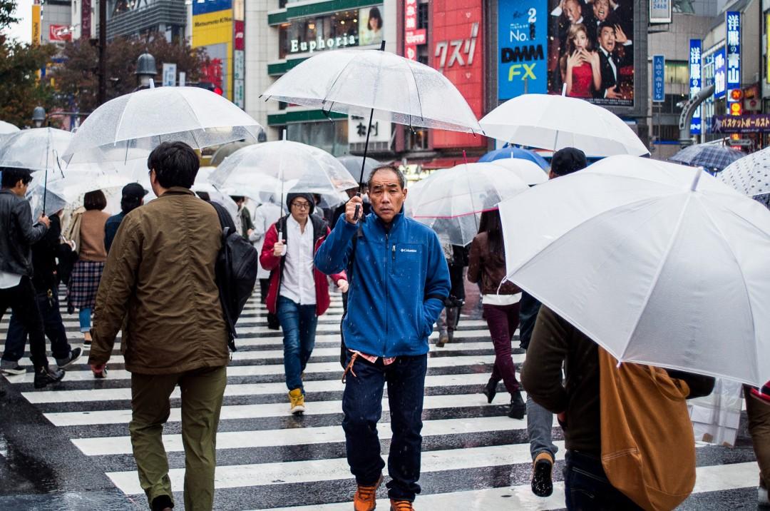 Parapluies sur Shibuya - Tokyo