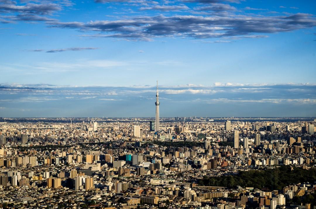 Skytree - vue depuis le Sunshine 60 - Tokyo